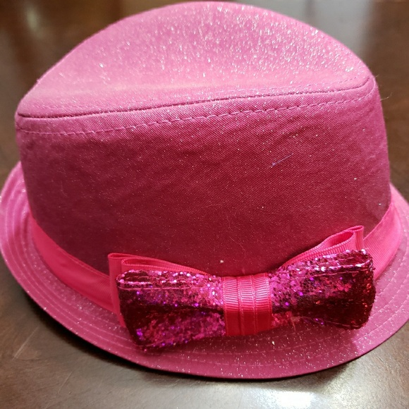 db2525a3b NWOT Little Girls Pink Fedora Hat Size 2T-47